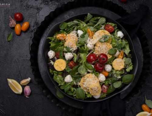 Salat mit Polenta