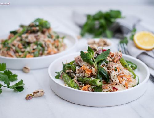 Frühlings Thunfisch Reis Salat
