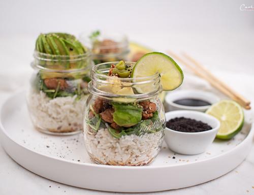 Sushi Salat im Glas