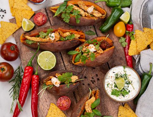 """Gefüllte Süßkartoffeln """"Mexiko Style"""""""