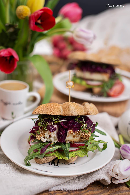 Feta- Gemüse-Sandwich