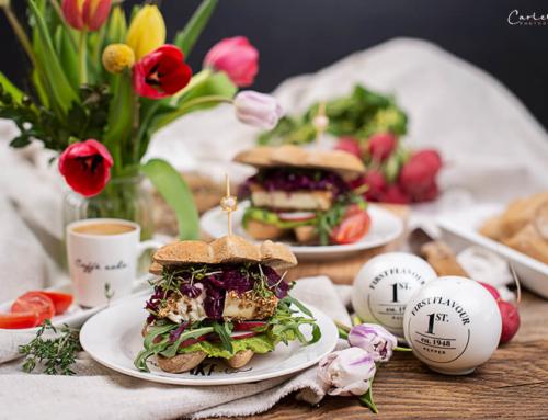 Bunter Frühlings Feta Gemüse Sandwich