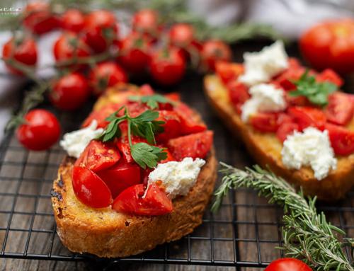 Klassische Tomatenbruschetta