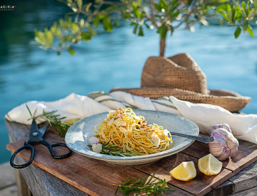 Spaghetti Aglio e Olio zweierlei