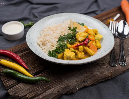Hühnercurry Rezept mit Reis