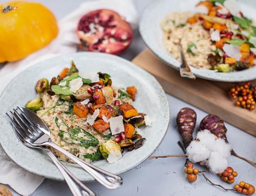 Winter Risotto mit geröstetem Gemüse