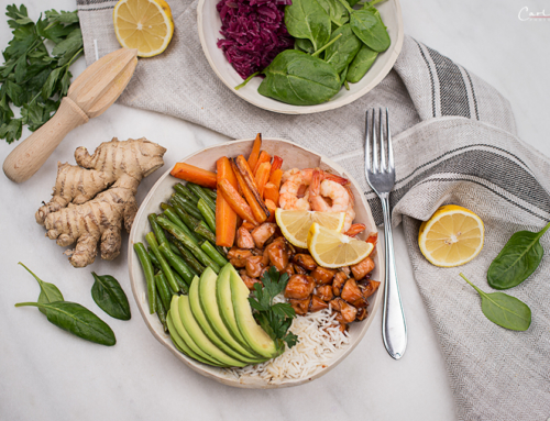 Lachs Shrimps Poke Bowl