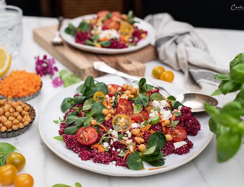Immunbooster Couscous Salat mit Roter Rübe & Feta